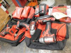 LOT: (3) Milwaukee M18 Cordless Drivers with (2) Batteries & Charger (LOCATION: 520 DRESDEN ST.,