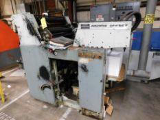 Harris Intertype Corporation 2-Color Offset Printing Press Model L125C, S/N 10588, Magazine Loaded
