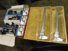 LOT: (2) 12 in. Dial Calipers, (4) Magnetic Indicator Stands (LOCATION: 520 DRESDEN ST., KALKASKA,