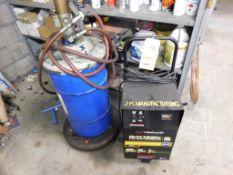LOT: Schumacher Battery Charger & Pneumatic Grease Gun (LOCATION: 520 DRESDEN ST., KALKASKA, MI