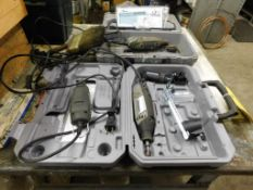 LOT: (3) Dremel Tools with Accessories & Work Bench (LOCATION: 520 DRESDEN ST., KALKASKA, MI 49646)