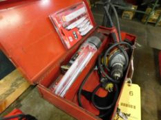 LOT: Milwaukee Sawzall & 1/2 in. Drill, with Assorted Blades (LOCATION: 520 DRESDEN ST., KALKASKA,