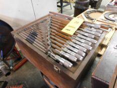 12-Piece 1 in. - 12 in. Outside Micrometer Set (LOCATION: 520 DRESDEN ST., KALKASKA, MI 49646)