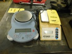 LOT: (1) Ohaus & (1) Acculab Digital Scales (LOCATION: 520 DRESDEN ST., KALKASKA, MI 49646)