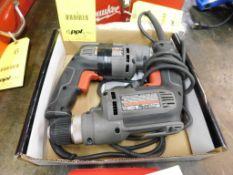 LOT: (2) Porter Cable 3/8 in. Drills (LOCATION: 520 DRESDEN ST., KALKASKA, MI 49646)