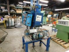 Custom Engineered Ball Spin Welder, on Rolling Steel Stand (was dropped) (LOCATION: 520 DRESDEN ST.,