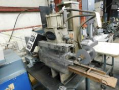 Kensol Hot Stamping System Model 27, with Vibratory Feeder, on Steel Bench (LOCATION: 520 DRESDEN