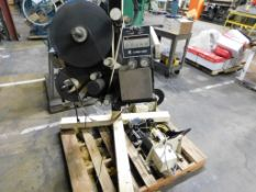 LOT: Label-Aire Labeler & (3) Small Labelers (LOCATION: 520 DRESDEN ST., KALKASKA, MI 49646)