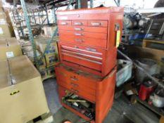 Craftsman Rolling Tool Box with Assorted Hand Tools (LOCATION: 520 DRESDEN ST., KALKASKA, MI 49646)