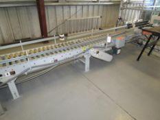 Hytrol 190-ACC Horizontal Electric Powered Box Conveyer, Shaft Mounted Drive, SN:13CV85, 13CV83,