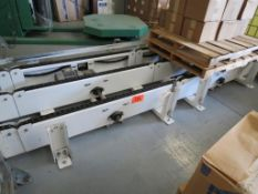 Palletized Packing System Conveyor, Moves Pallet from Robot to Stretch Wrapping System, SN:TRAA-