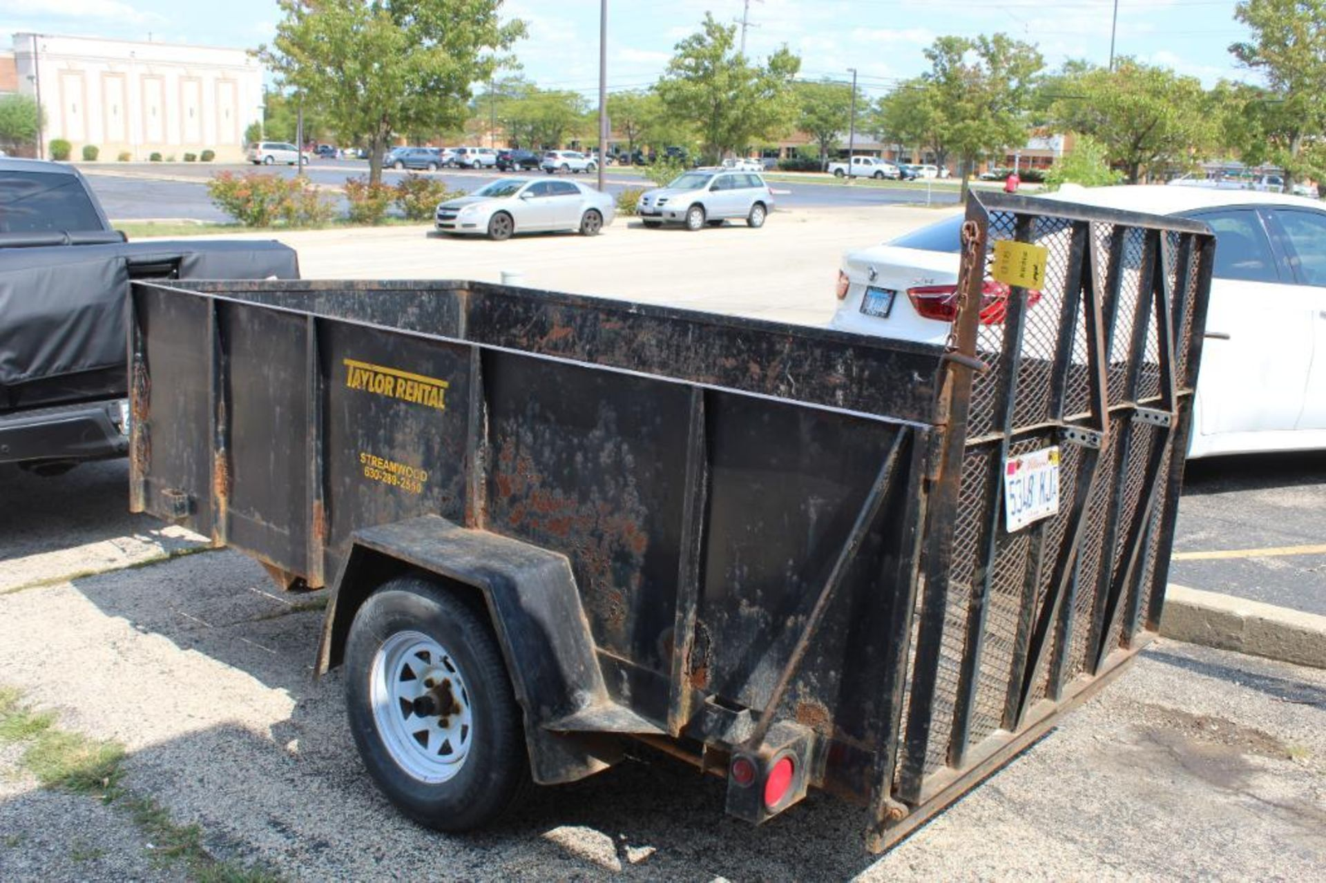 2001 Croft 5 ft. x 9 ft. Steel Wall Trailer with Ramp - Image 2 of 2