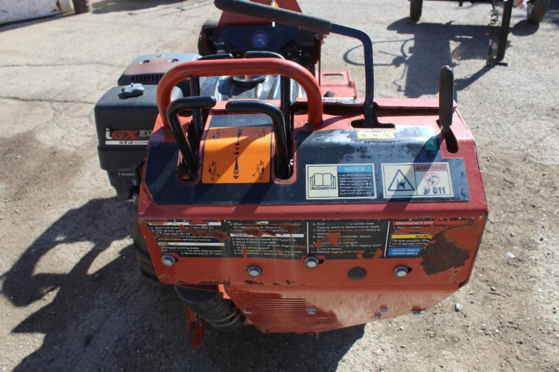 2012 Ditch Witch RT 12 Walk Behind Trencher, S/N CMWRT12JC0001567, 260 Indicated Hours - Image 3 of 4