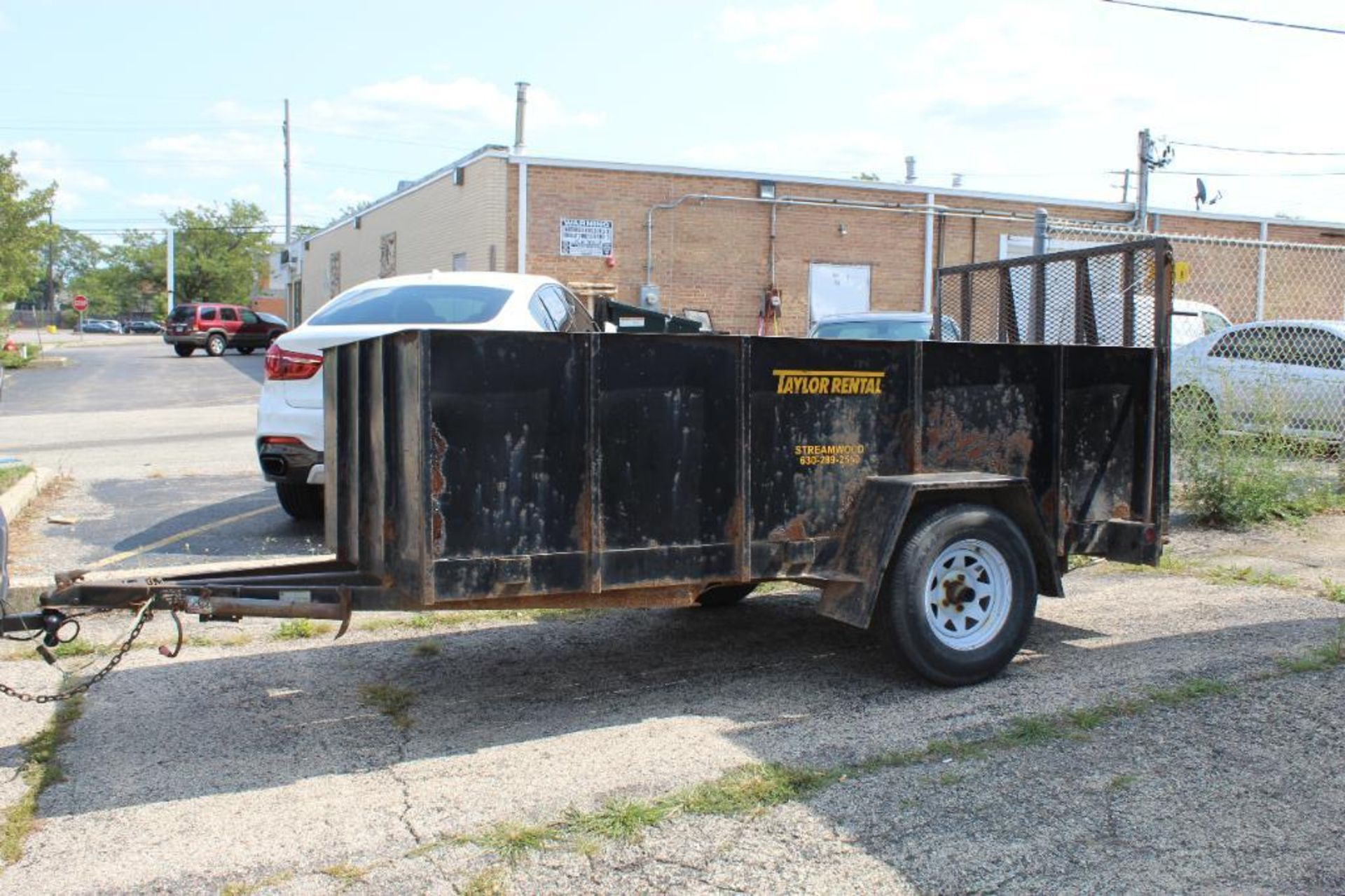 2001 Croft 5 ft. x 9 ft. Steel Wall Trailer with Ramp