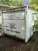Detached Box Truck Box Storage Unit
