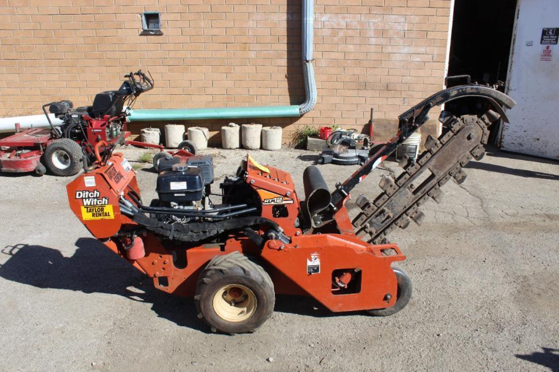 2012 Ditch Witch RT 12 Walk Behind Trencher, S/N CMWRT12JC0001567, 260 Indicated Hours - Image 2 of 4