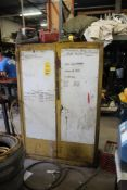 Flammable Cabinet with Contents of Gas Cans