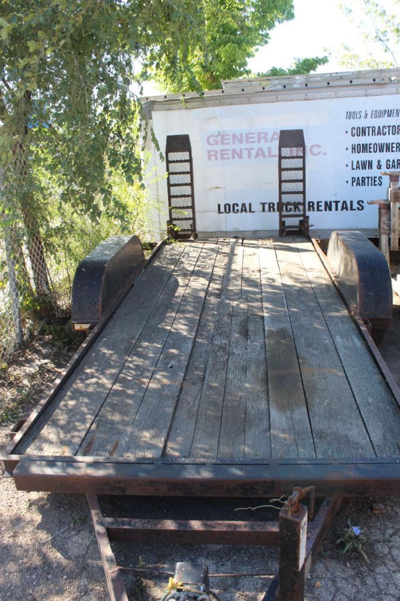 2005 Cronkhite Model 2200EHSA 6 x 16 Flat Bed Dual Axel Trailer with Adjustable Ramps - Image 2 of 3