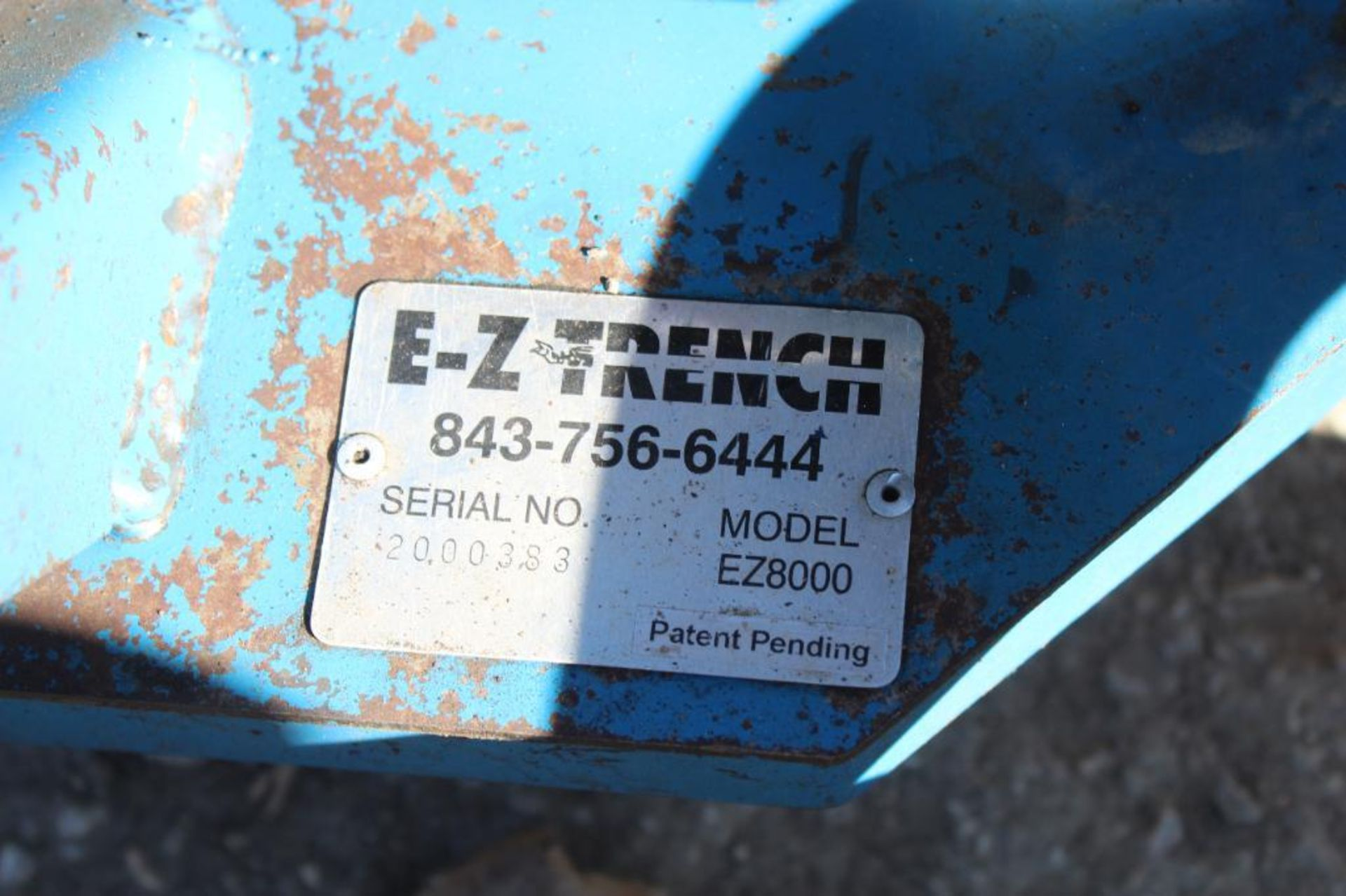 E-Z Trench EZ8000 Mini Trench with Bed Cutting Attachment, S/N 200383 - Image 4 of 4