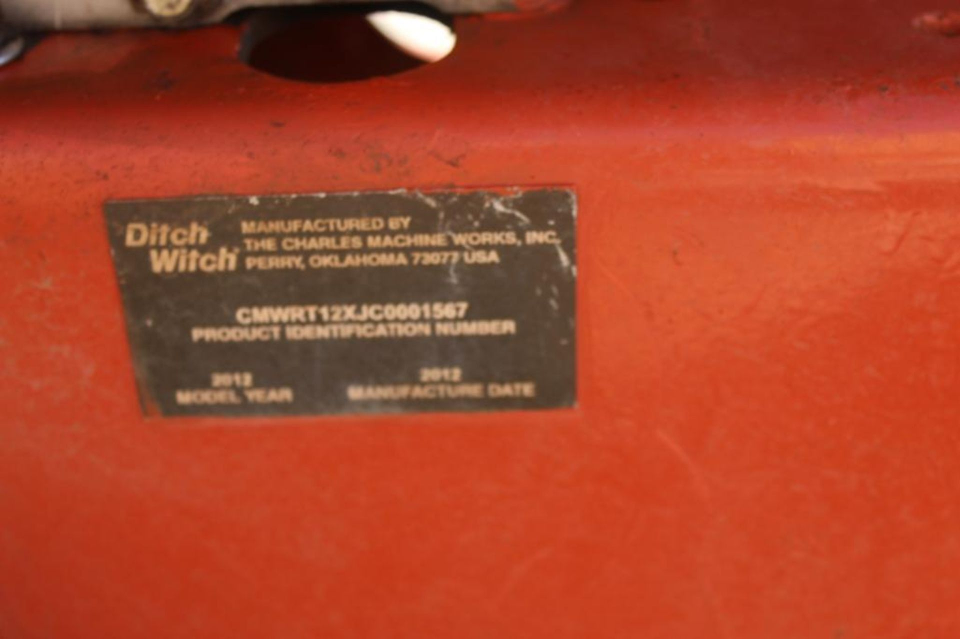 2012 Ditch Witch RT 12 Walk Behind Trencher, S/N CMWRT12JC0001567, 260 Indicated Hours - Image 4 of 4