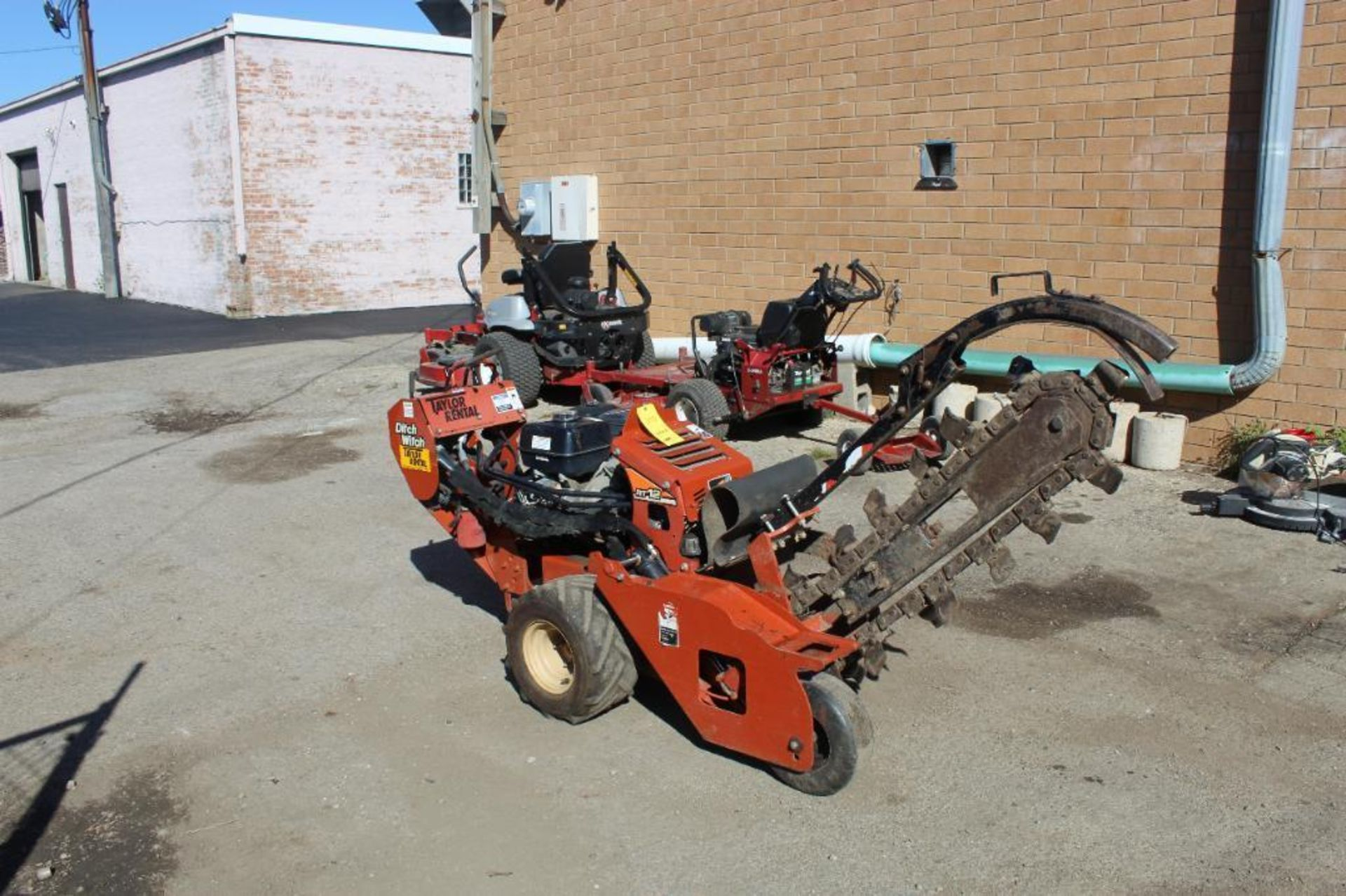 2012 Ditch Witch RT 12 Walk Behind Trencher, S/N CMWRT12JC0001567, 260 Indicated Hours