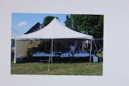 Eureka 20 ft. x 20 ft. Pole Tent, White