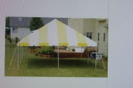 Eureka 20 ft. x 20 ft. Party Canopy, Yellow/White (GRADE C)
