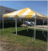 Eureka 15 ft. x 15 ft. Party Canopy, Yellow/White (GRADE C)