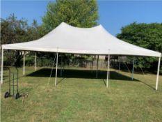 Eureka Elite 20 ft. x 30 ft. Pole Tent, White (TENT TOP ONLY)