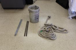 LOT: (2) Horse Shoes and Tug of War Rope