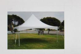 Aztec Festival 20 ft. x 20 ft. Frame Tent, White