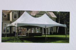 20 ft. x 30 ft. Frame Tent, White