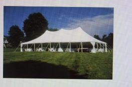 Eureka 30 ft. x 75 ft. Pole Tent, White
