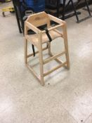 LOT: (13) Wooden High Chairs