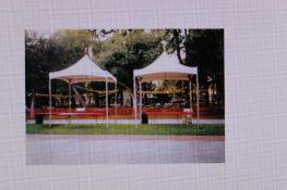 Aztec Festival 10 ft. x 10 ft. Frame Tent, White