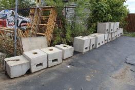 LOT: (20) Concrete Blocks Tent Weights