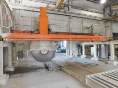 Park Industries CNC Gantry Bridge Stone Saw, 20 ft. x 30 ft. Cutting Surface, 72 in. 75 HP Direct Dr