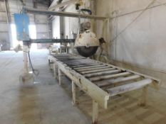 Tysaman / Sawing Systems Jointing Stone Saw Model 111C, S/N 02-03, 48 in. 30 HP Blade, Fixed Bridge,