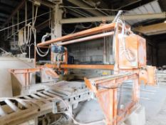 Sawing Systems Gantry Bridge Stone Saw Model 511C, S/N TA-67980, 30 in. 25 HP Blade with Tilt Arbor,