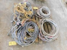 LOT: Assorted Extension Cords on (1) Pallet, Air Hoses on (1) Pallet
