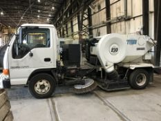 Tymco 210 Driving Air Sweeper