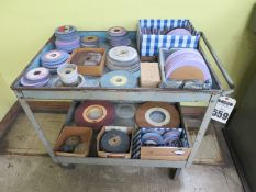 Cart With Misc. Grinding Wheels