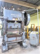 Minster 100 Ton Piece-Maker Variable Speed Stamping Press Model P2-100-48, Sn P2-100-18493 48 x 31