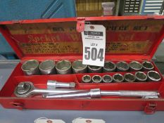 Socket Wrench Set, 6 Point 21 Piece