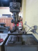 """Clausing Series 16Vc 15"""" Variable Speed Drill Press, Sn 506266 With Jacobs Chuck and vice"""