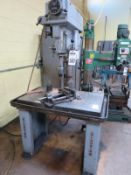 """Clausing Series 22V 20"""" Variable Speed Drill Press, Sn 501841 With Jacobs Chuck and vice"""