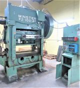 """Minster 100 Ton Variable Speed Straight Side Production Press, P2-100-42, Sn P2-100-10818 3"""""""