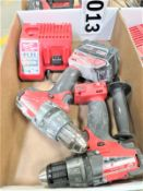 """(2) Milwaukee 1/2"""" Drills with Charger"""