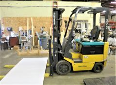 """Komatsu Electric Fork lift, model FB25SH-5, 5000lb capacity, 188"""" height, with 36v charger, SN 37606"""