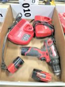 """Milwaukee 3/8"""" Drill with Batteries and Chargers"""